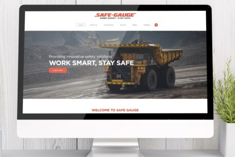 Safe Gauge website design Scrolling Digital